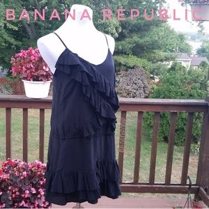 * BANANA REPUBLIC Silk Tiered Festival Dress Sz M